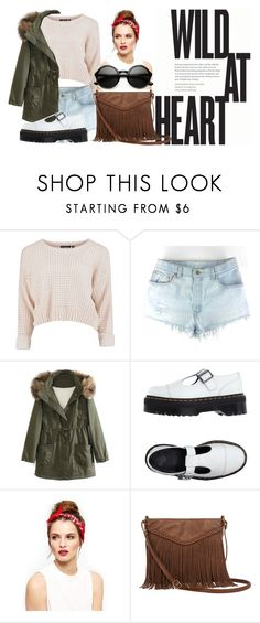 """""""Wild At Heart"""" by rsytsfn-xx on Polyvore featuring WithChic, Dr. Martens and T-shirt & Jeans"""