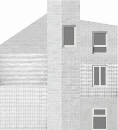 House extension Mortsel Study of the facade Brick Architecture, Architecture Collage, Architecture Graphics, Architecture Visualization, Architecture Student, Architecture Drawings, Contemporary Architecture, Architecture Details, Architecture Illustrations