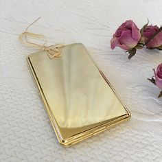 Gold business card case gold credit card case business card vintage gold agner calling card case business card case and colourmoves Gallery