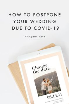 If your wedding is scheduled to happen sometime over the next few months, you are faced with really tough decisions. We've put together some directions on how to postpone your wedding. Wedding Planning Tips, Trip Planning, Wedding Stationary, Wedding Invitations, Wedding Vendors, Our Wedding, How To Move Forward, Wedding Insurance, Love Your Life