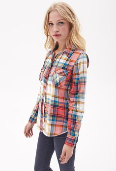 Forever 21 Classic Woven Plaid Shirt $19.80