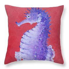 Seahorse Throw Pillow  Coastal decor, beach house decor, home decor, interior design, coastal living