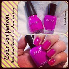 Zoya Charisma vs. Sinful Colors Dream On