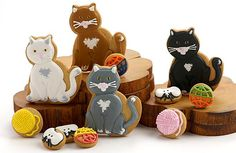 Cute Cat cookies you can order from Elenis online.