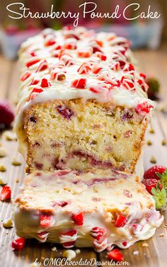 Strawberry Pound Cak