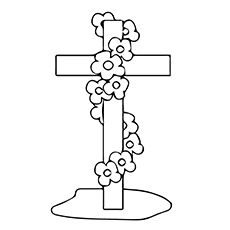 Print Coloring Image Cross Page