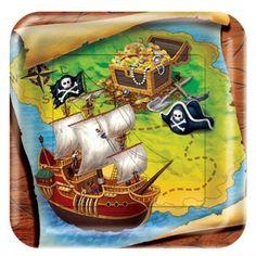 Platos Pasteleros Fiesta de Piratas - Artículos de Fiesta