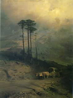 In the Mountains of Crimea, 1873  Vasilyev, Fiodor Aleksandrovich  Painting Reproductions