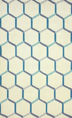 Homespun HK98 Trellis Blue Rug | Contemporary Rugs