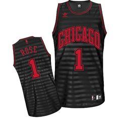 Derrick Rose jersey-Buy 100% official Adidas Derrick Rose Men's Swingman Groove Black/Grey Jersey NBA Chicago Bulls #1 Free Shipping.