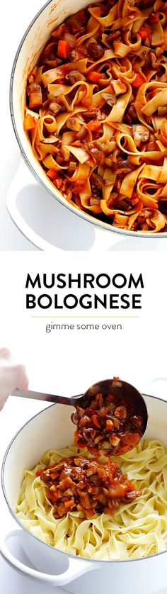 Mushroom Bolognese -- a hearty, vegetarian take on traditional bolognese, absolutely delicious! | gimmesomeoven.com