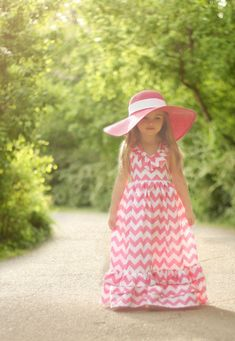 Such an adorable maxi dress for a little one!!!