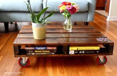 Paletten Tisch  von http://www.blogher.com/trash-treasure-diy-pallet-coffee-table