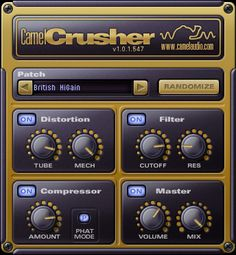 Camel Audio CamelCrusher is a freeware VST/AU/RTAS plugin multi-effect, featuring distortion and compressor. It is one of many VST plugins. Music Software, Tracking Software, Instrumental Beats, Mac, Ableton Live, You Sound, Distortion, Concert Posters, Electronic Music