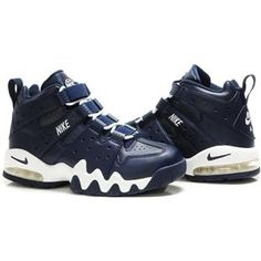 Charles Barkley Shoes   Nike Air Max2 CB 94 Dark Blue/White
