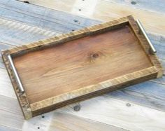 Anyone else in love with this tray. Reclaimed wood work.