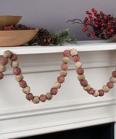 Look at this Tea-Stained Rag Ball Garland on #zulily today!