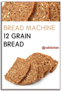 Bread Machine 12 Grain Bread - Made with water, butter, honey, salt, 12 grain fl. Whole Grain Bread Machine Recipe, Multigrain Bread Machine Recipe, Bread Machine Recipes Healthy, Best Bread Machine, Bread Maker Recipes, Easy Bread Recipes, Banana Bread Recipes, Whole Grain Breadmaker Recipe, Bread Recipes
