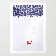 Alone+in+the+forest+Art+Print+by+Robert+Farkas+-+$19.00