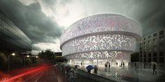 Pavilion Architecture, Islamic Architecture, Modern Architecture House, Concept Architecture, Futuristic Architecture, School Architecture, Architecture Design, Building Elevation, Building Facade