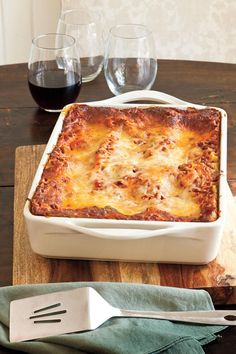 Vanessa's Make-Ahead Beefy Lasagna - 9 Laid-Back Beef Casseroles - Southernliving. A container of refrigerated pesto adds distinctive flavor to this basic beef-and-cheese lasagna, and the unbaked lasagna can be frozen for up to three months.    Recipe:Vanessa's Make-Ahead Beefy Lasagna