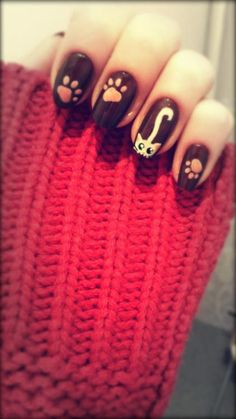 Cat nails, so cute