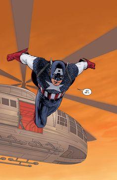 Captain America by John Cassday Marvel Heroes, Marvel Comics, Comic Books Art, Comic Art, Captain Hydra, Captain America Art, Captan America, Avengers, Captain Rogers