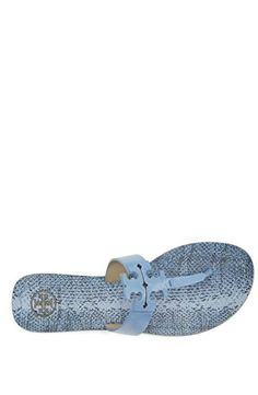 d2483c1503e906 Tory Burch Moore Flat Flip Flops Ocean Mist 65     Want to know more