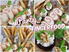 Einfache 🎉PARTY-FINGERFOOD-REZEPTE🎉 für Silvester, Geburtstag & einfach so - YouTube Fingerfood Party, Check Up, Party Buffet, Snacks Für Party, Finger Foods, Pasta Salad, New Recipes, Potato Salad, Food And Drink