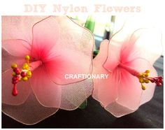 Make Stocking Flowers  (Girly tutorial) Oh I remember my mother making these