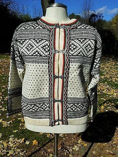 Dale of Norway Women's Sweater Pewter Clasp Sweater Jacket Size 40   eBay