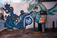 Owl street art Atlanta Street