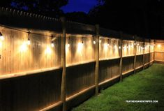 Easy-to-use backyard cafe lights for fence or patio brighten up any space! Backyard Cafe, Backyard Seating, Backyard Patio Designs, Backyard Fences, Outdoor Seating, Fenced In Backyard Ideas, Sloped Backyard, Backyard Play, Outdoor Decor