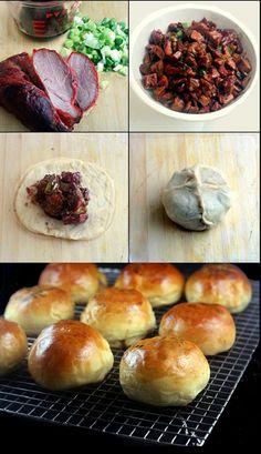 (CHINA) - Baked BBQ Pork Buns (Char Siu Bao)