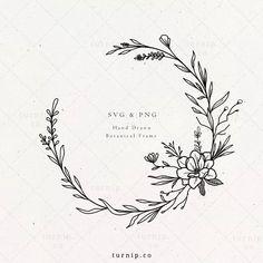 Magnolia Wreath SVG & PNG Clipart Sublimation Graphic Design / Floral Flower Spring Botanical Digit