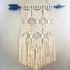 Macrame wall hanging  arrow with beads