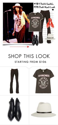 """#TBT Patti Smith's 1978 Punk Rock Look"" by elske88 ❤ liked on Polyvore featuring Emilio Pucci, MadeWorn, rag & bone, Alexander McQueen, Punk, rock and tbt"