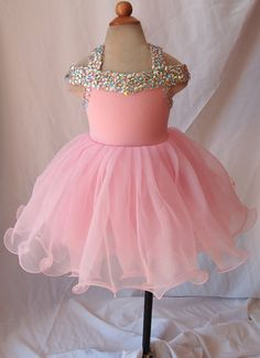 15 color avalible -- Infant/toddler/baby/children/kids glitz Girl's Pageant Dress for birthday,bridal,gift, 1~5T G081B