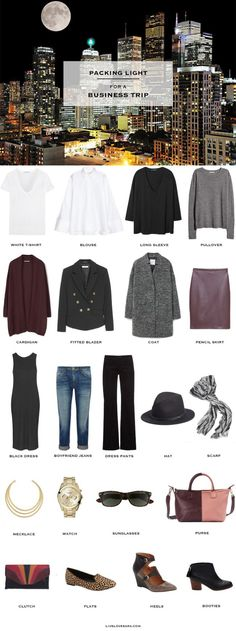 Business Casual Packing List #packinglist #travel #traveltips #packinglight #travellight