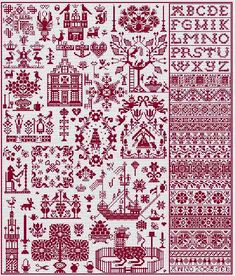 long dog samplers - bois le duc Looks like a bunch of interesting designs under…