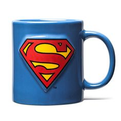 Make every drink a super drink with these Superhero Embossed Insignia Mugs. mugs have embossed superhero logos and they look awesome.