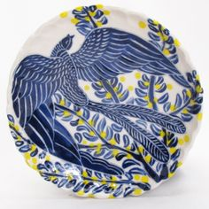 Shop: Blue Bird Dessert Plate - The Clay Studio Sue Tirrell http://www.theclaystudio.org/