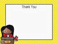 Teacher Thank You Notes {FREEBIE}