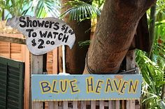 Blue Heaven on my mind. ...love the shrimp and grits. ~Key West