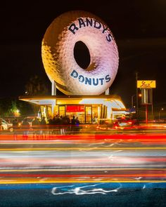 """From weekend shutterbugs to professional photographers everyone is welcome in the Circle of Eyewitnesses! Thanks to Eyewitness @the_bluecloud for this great long exposure shot from @randysdonutsla in Inglewood. Built in 1953 this iconic programmatic gem has appeared in movies like """"Iron Man II"""" and """"Volcano."""" We want to see your unique perspective on the world! Share your photos and videos by tagging #abc7eyewitness when you post. You could see your images here or on ABC7!"""