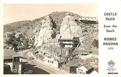 BISBEE-ARIZONA-Castle-Rock-from-the-South-Frashers-postcard-8560
