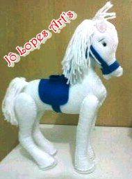 Cavalo 3d em feltro