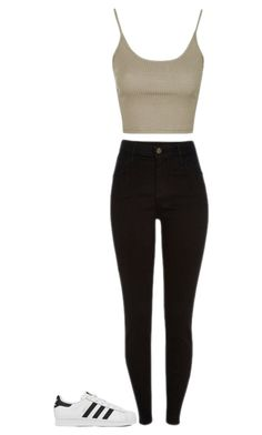 """""""Untitled #69"""" by brittney348 on Polyvore featuring Topshop and adidas"""