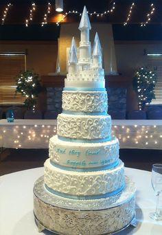 Princess Castle Wedding Cake — Round Wedding Cakes
