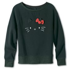 Vans Black Hello Kitty Shirt with Red Bow